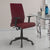 Nilkamal Thames Mid Back Fabric Chair (Maroon)