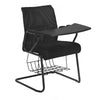 Nilkamal Thames Training Mesh Chair with Bookshelf (Black)