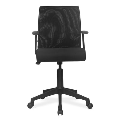 Nilkamal Vector Table With Thames Low Back Chair (Black)