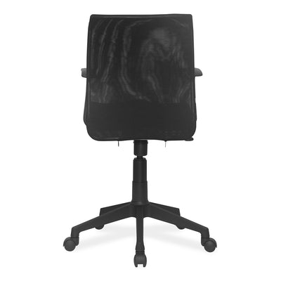 Nilkamal Leo Computer Table (Walnut) With Thames Low Back Mesh Chair (Black)
