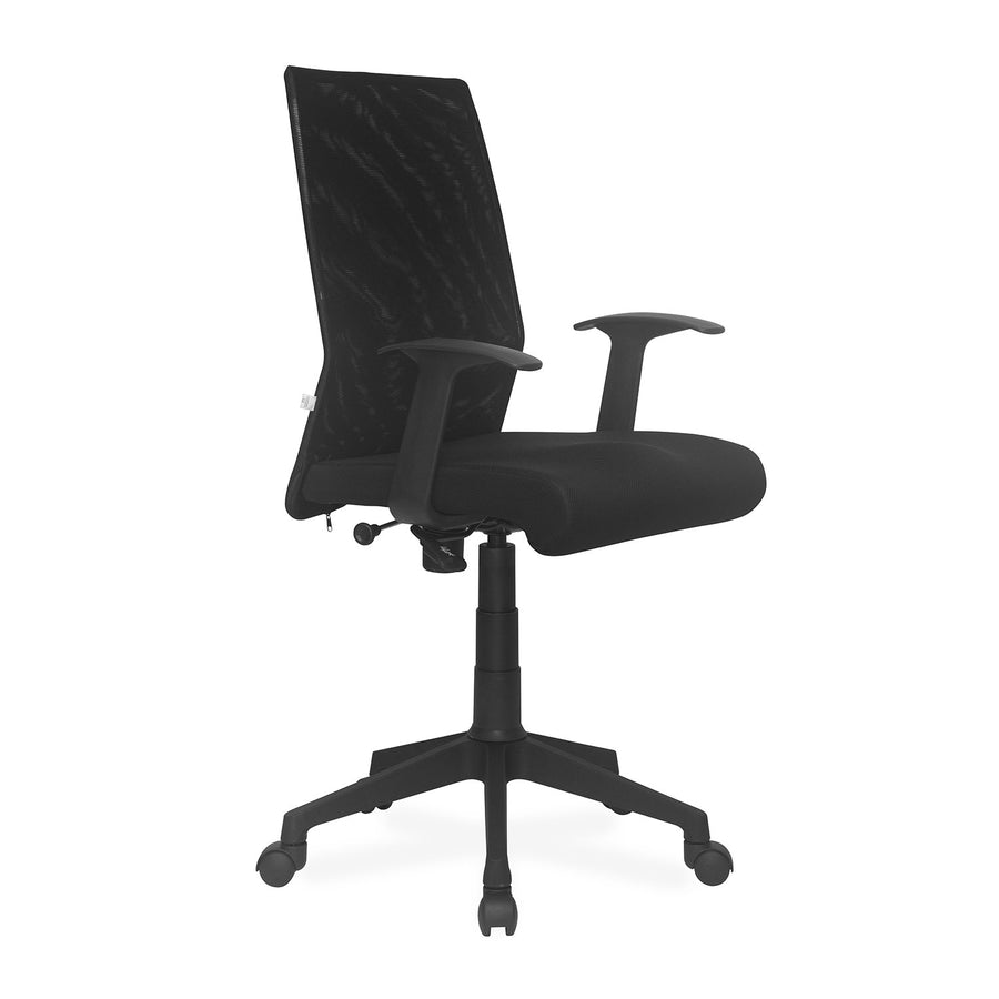 Nilkamal Thames Mid Mesh Back Chair (Black)