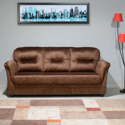 Nilkamal Tigor 3 Seater Sofa (Dark Brown)