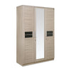Nilkamal Toya 3 Door Mirror Wardrobe (Beige/Brown)
