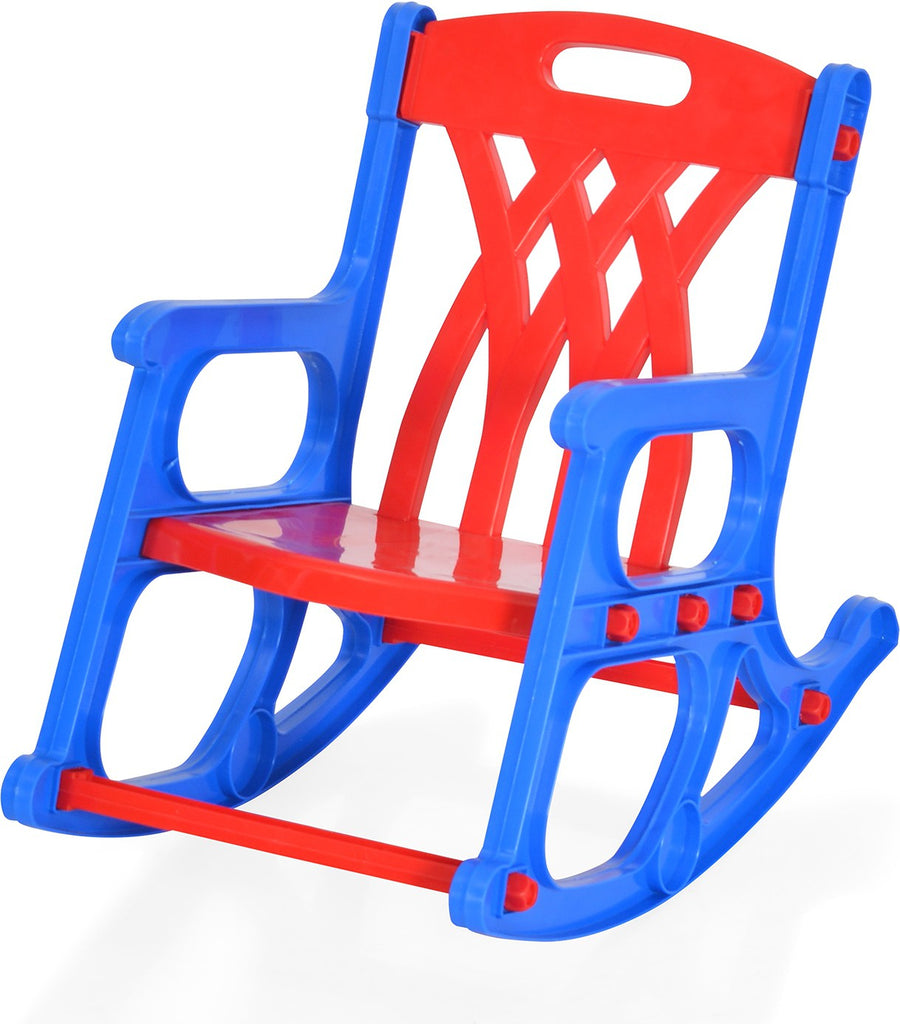 Nilkamal Toy Baby Rocker Chair (Blue & Red)
