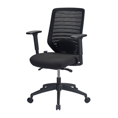 Nilkamal Trenton Mid Back Office Chair (Black)