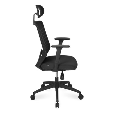 Nilkamal Trenton High Back Office Chair, Black
