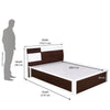 Nilkamal Tristar New Queen Bed (Brown White)