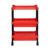 Nilkamal Trolley 15 (Plastic, Black & Bright Red)
