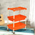 Nilkamal Trolley 15 (Cream & Bright Orange)