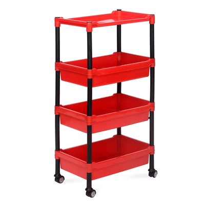 Nilkamal Trolley 23 (Black and Bright Red)