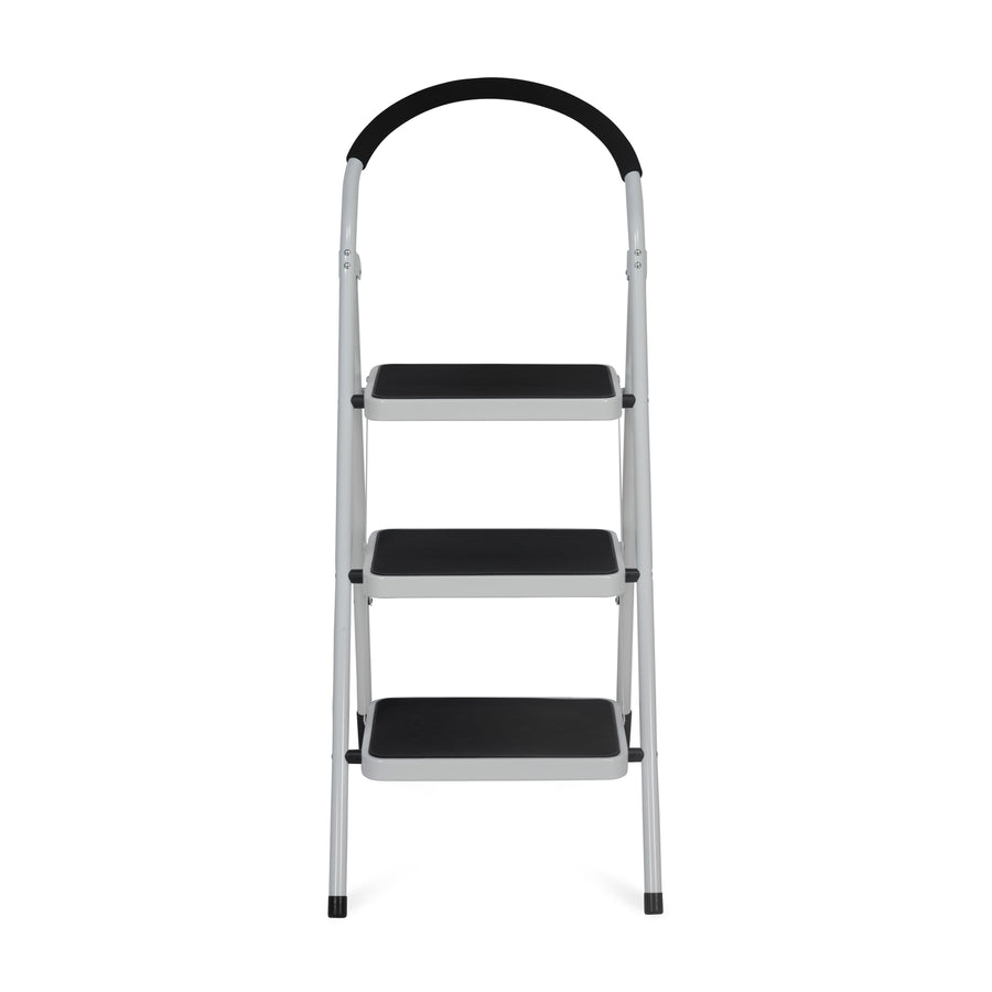Nilkamal Vesta 3 Steps Ladder Black White