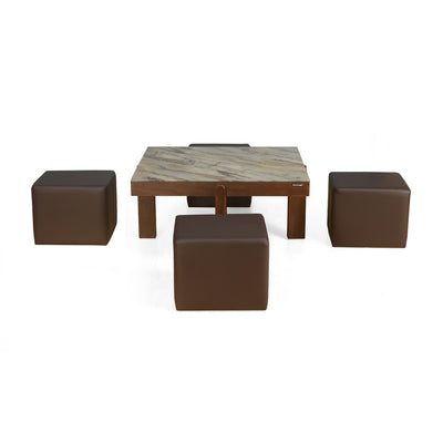 Nilkamal Vincent Center Table (Light Walnut)