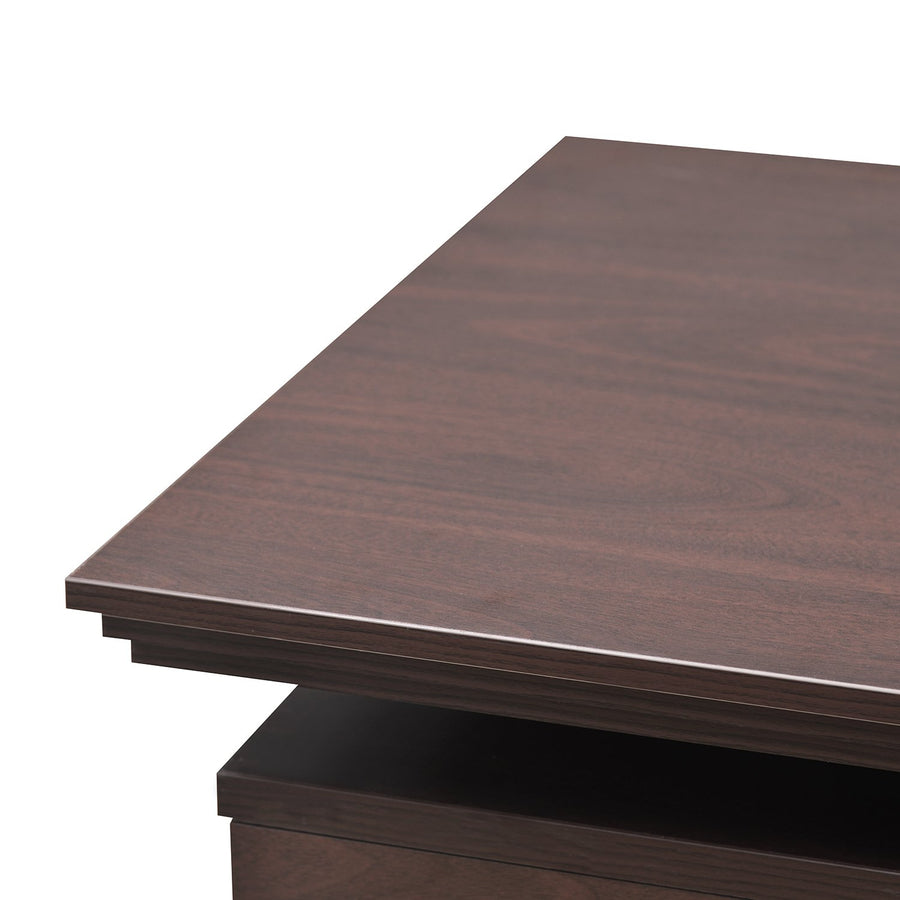 Nilkamal Wales Office Table (Mahogany)
