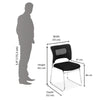 Nilkamal Wega Visitor Chair (Black)