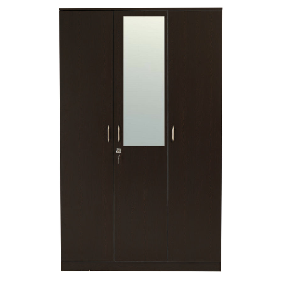 Nilkamal Willy 3 Door Mirror Wardrobe (Wenge)