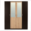Nilkamal Willy 4 Door Mirror Wardrobe (Wenge/Oak)