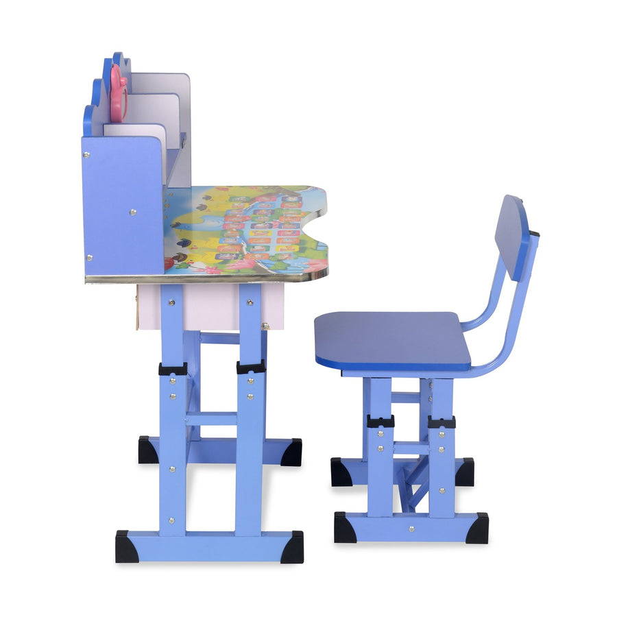 Nilkamal Woody Study Desk With Chair Blue