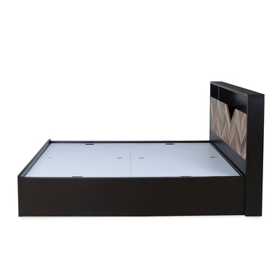Nilkamal Yuko Queen Bed (Wenge/Brown)