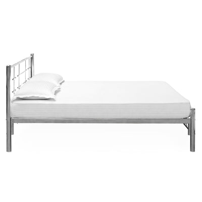 Nilkamal Zeplin SS Double Metal Bed - Silver