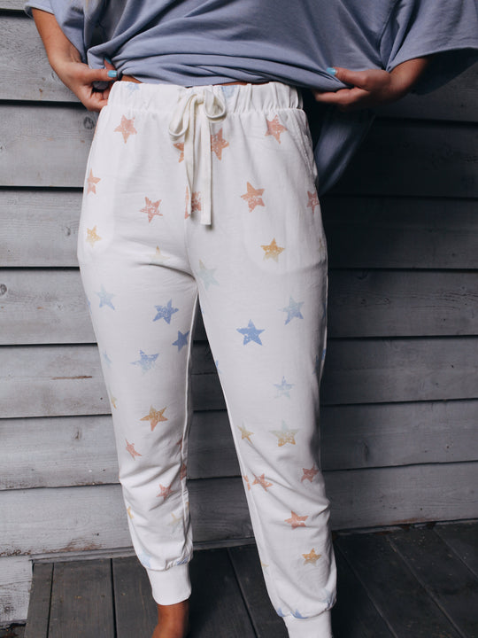 Z Supply Mabel Rainbow Star Jogger