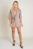 Spotted Front Tied Romper