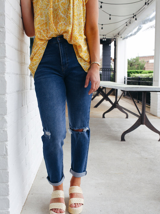 Just Right Distressed Jeans