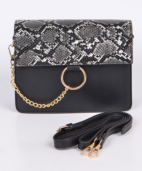 Jordan Snake Skin Fashion Clutch
