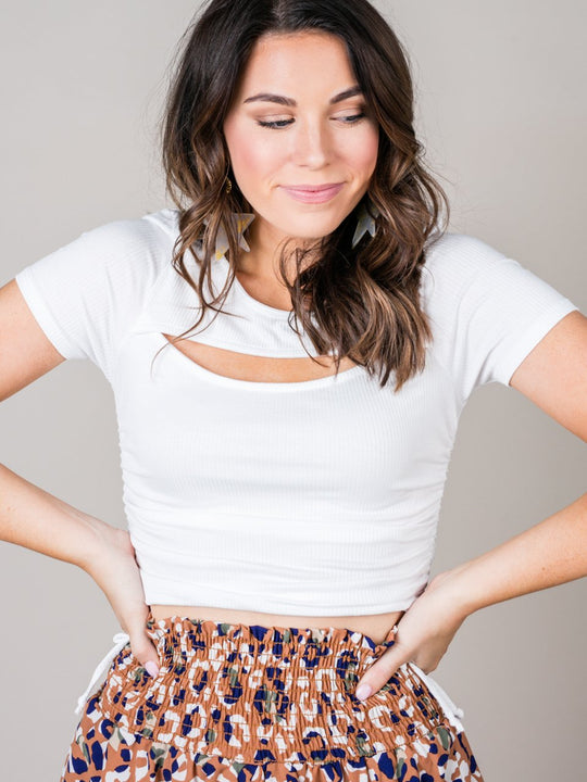 Mollie Cutout Crop Top