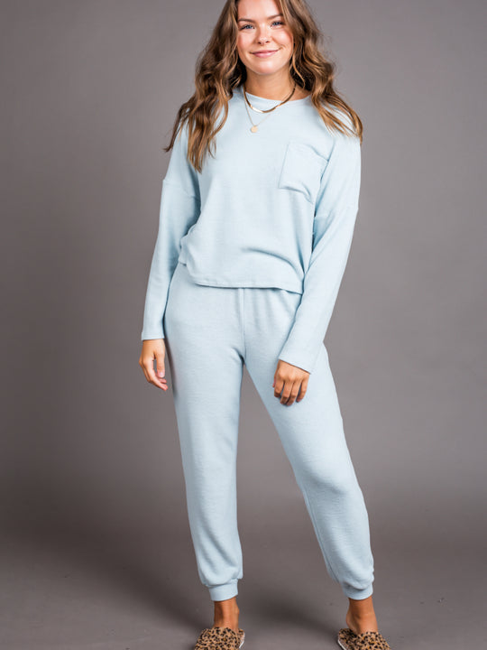 Baby Blues Knit Jogger