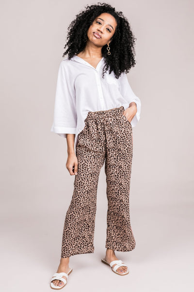 BB DAKOTA Cats Out of the Bag Cropped Pants