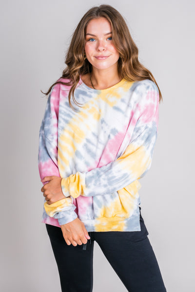 Tie Dye For You Long Sleeve Knit Top