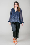 Blue Without You Paisley Top