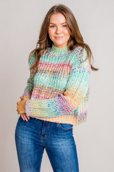 Snow Dust Rainbow Sweater
