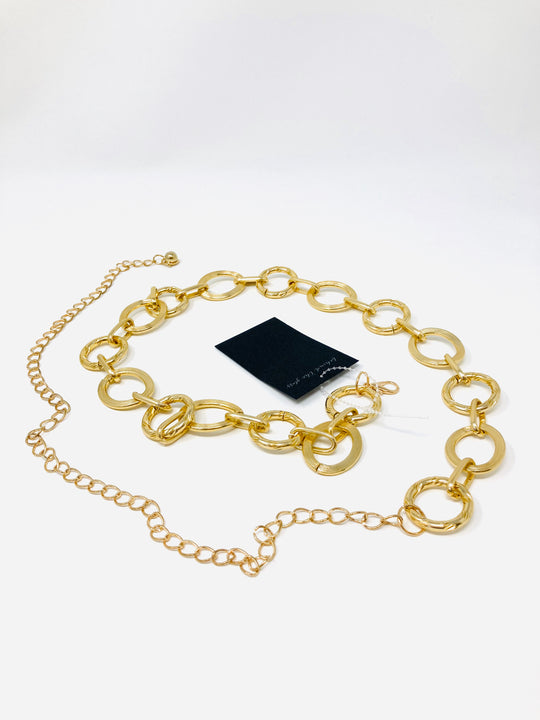 Glitz Girl Round Chain Belt