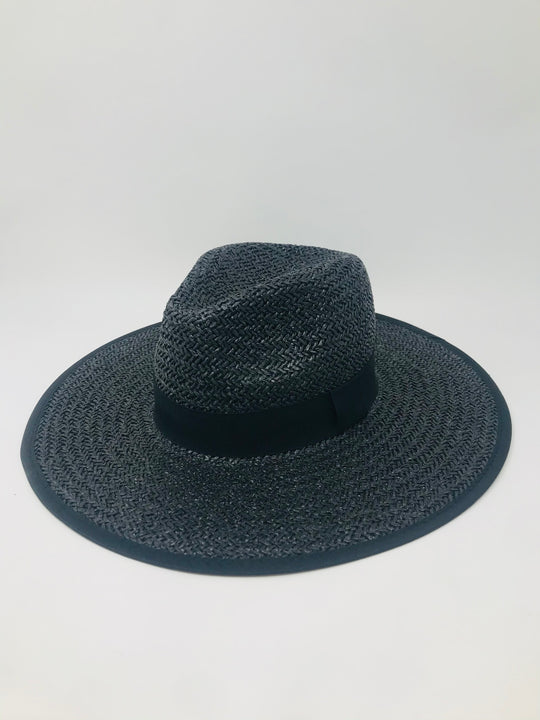 LUCCA Hampton Summer Straw Hat in Black
