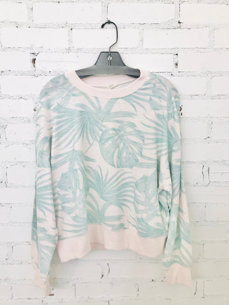Z Supply Elle Palm Long Sleeve Top
