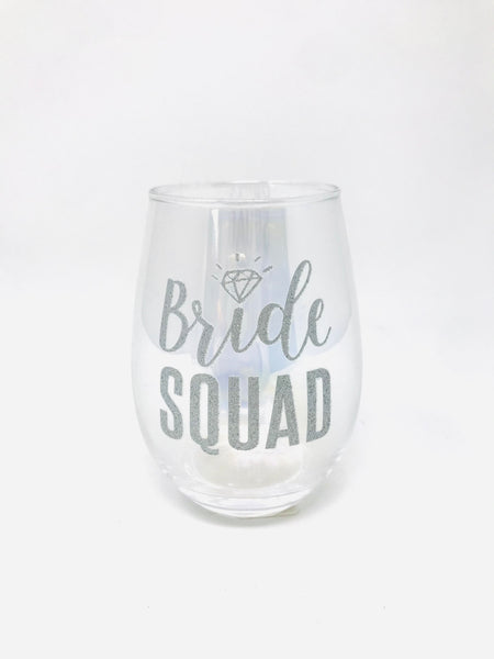Bride Squad Stemless Glass