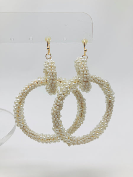 Beading Love Circle Link Earrings