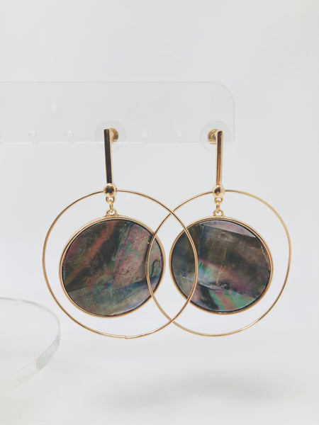 Round and Round Circle Bar Earrings