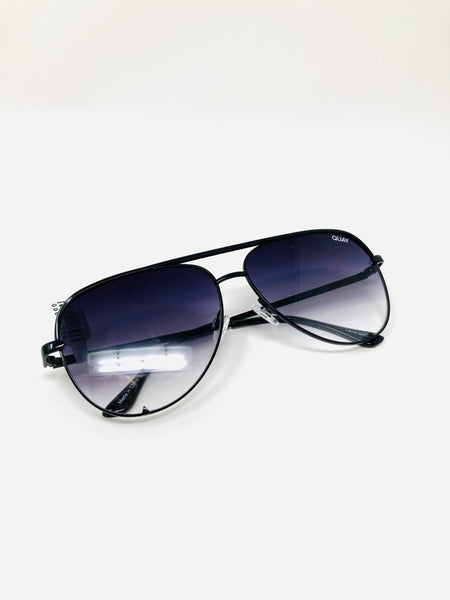 QUAY High Key Mini Sunglasses - Black Fade