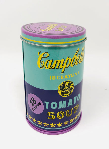 Andy Warhol Soup Crayons-Purple/Green Tin