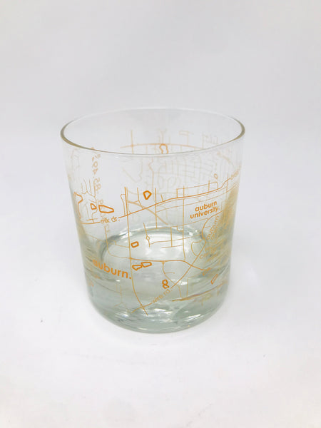 Auburn Colored Whiskey Glass