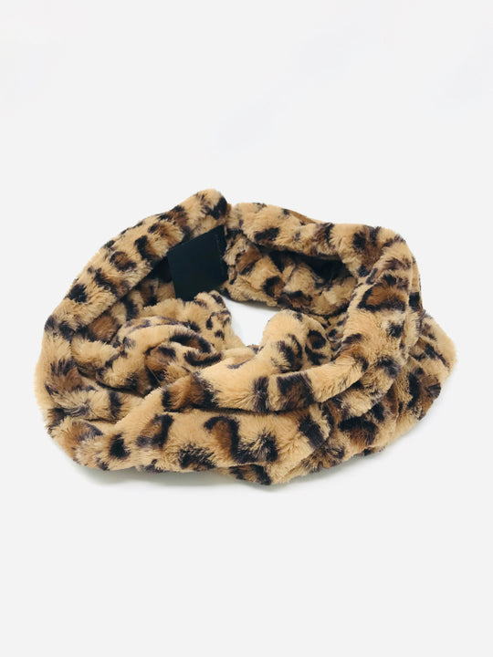 Lowell Leopard Faux Fur Collar Scarf