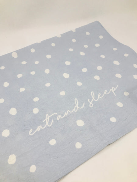 """Eat Sleep"" Tea Towel"