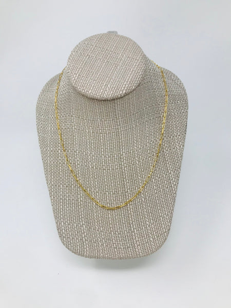 Brass Paperclip Chain Necklace