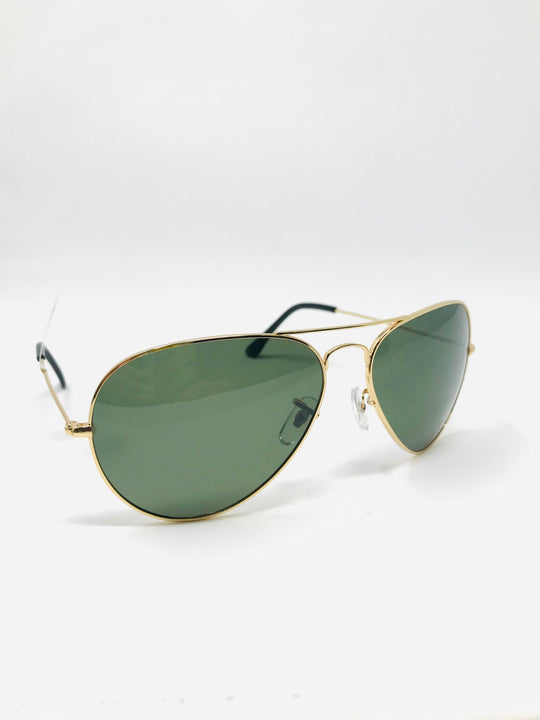 Oversized Teardrop Aviator Sunglasses