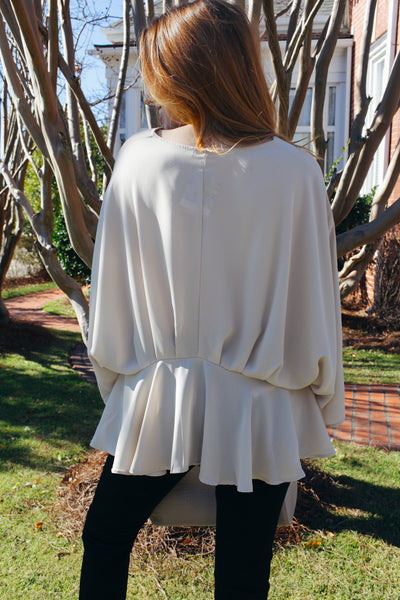 Ella Drop Peplum Blouse
