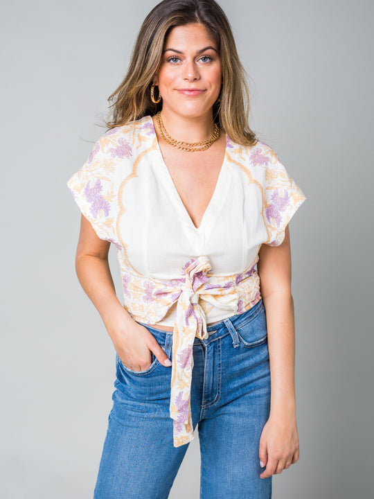 Free People Ariel Embroidered Top