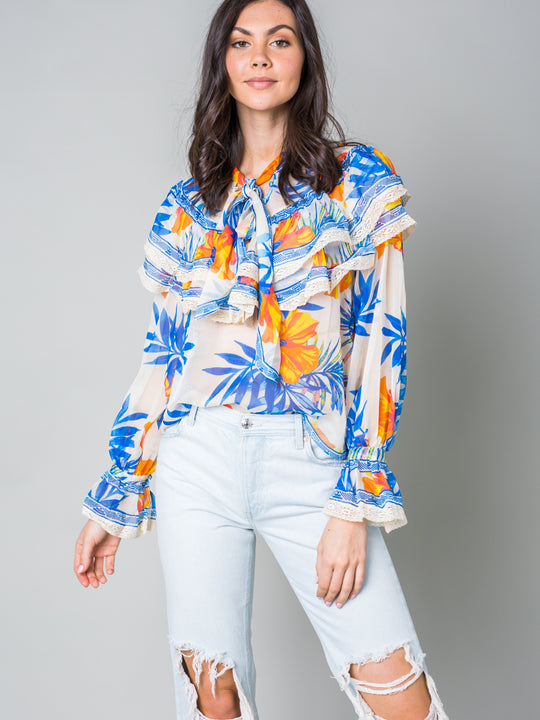 Wildflower Child Floral Print Blouse