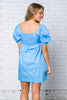 On The Brightside Puff Sleeve Babydoll Dress